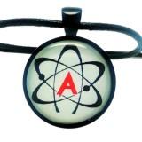 American Atheist Logo, Pendant Necklace