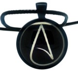 Atheist Logo, Black and White Pendant Necklace