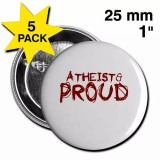 Atheist and Proud Button