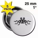 Flying Spaghetti Monster Logo Button