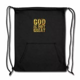 God is not Great Gold Sweatshirt Cinch Bag