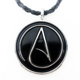 Atheist Logo Black and Silver Pendant