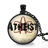 Atheist Science Logo, Pendant Necklace