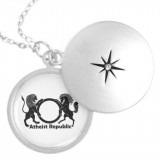 White Locket with Logo