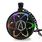 Black Atheist Science Logo Pendant