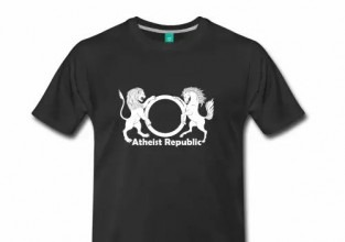 Atheist Republic White Logo Men's Shirt