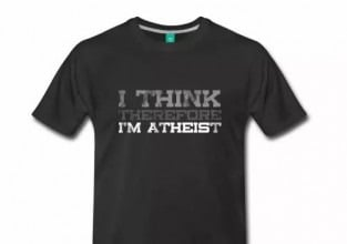 I Think, Therefore I'm Atheist Men's Shirt