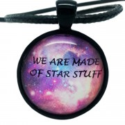 """Atheist Logo """"We Are Made of Star Stuff"""" Pendant Necklace"""