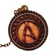 Atheist Logo, Vintage Bronze Pendant